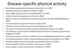 disease specific physical activity