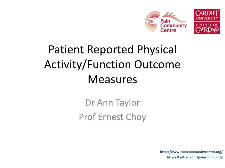 patient reported physical activity function outcome measures n.