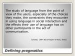 defining pragmatics