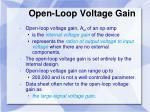 open loop voltage gain
