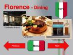 florence dining