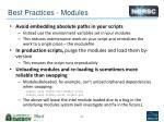 best practices modules