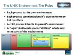 the unix environment the rules