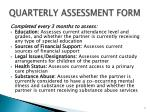 quarterly assessment form