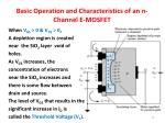 basic operation and characteristics of an n channel e mosfet