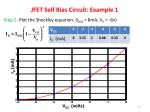 jfet self bias circuit example 11