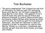 tom buchanan