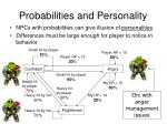probabilities and personality