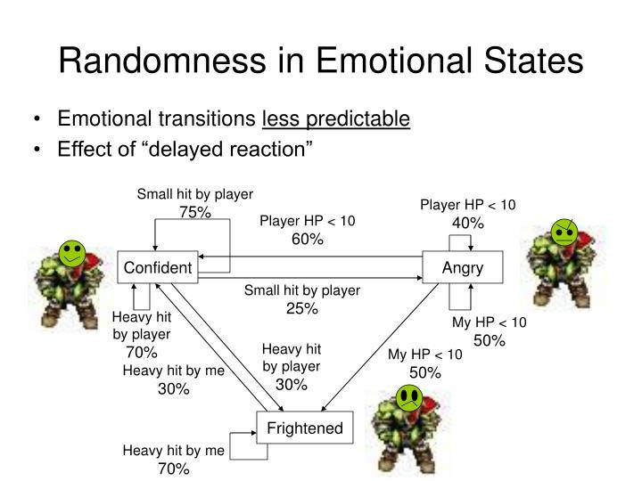 Randomness in Emotional States