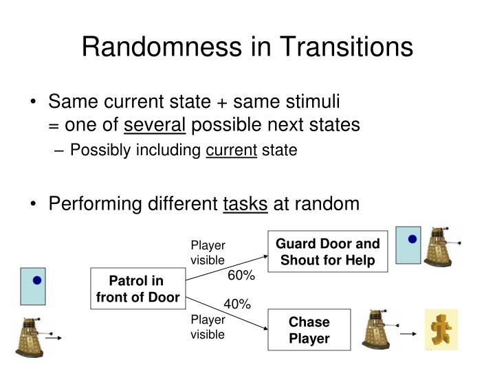 Randomness in Transitions
