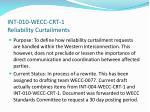 int 010 wecc crt 1 reliability curtailments