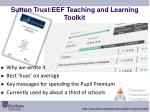 sutton trust eef teaching and learning toolkit