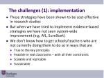 the challenges 1 implementation