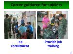 career guidance for soldiers