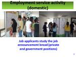employment service activity domestic1