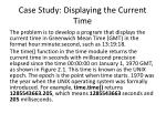 case study displaying the current time