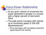 force power relationship