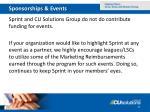 sponsorships events