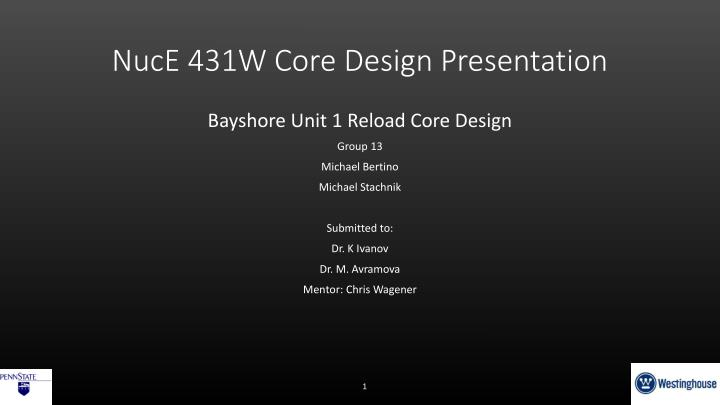nuce 431w core design presentation n.