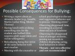 possible consequences for bullying1