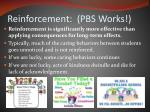 reinforcement pbs works