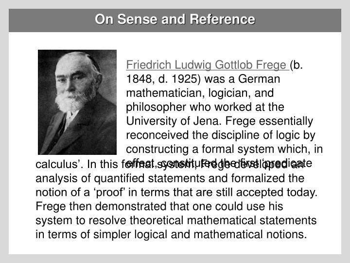 on sense and reference n.