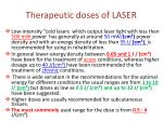 therapeutic doses of laser