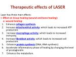 therapeutic effects of laser