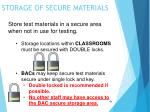 storage of secure materials