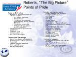 roberts the big picture points of pride