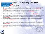 tier ii reading smart goals