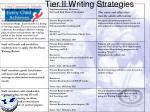 tier ii writing strategies