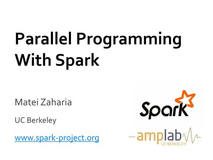 parallel programming with spark n.