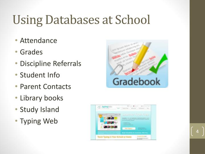 Using Databases at School