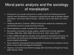 moral panic analysis and the sociology of moralisation
