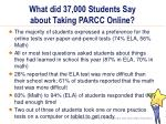 what did 37 000 students say about taking parcc online