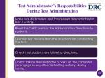 test administrator s responsibilities during test administration