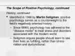 the scope of positive psychology continued1