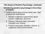 the scope of positive psychology continued3