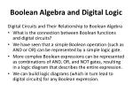 boolean algebra and digital logic21