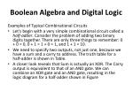 boolean algebra and digital logic24