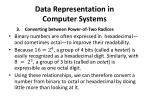 data representation in computer systems14