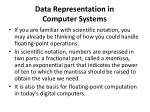data representation in computer systems17