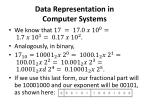 data representation in computer systems19