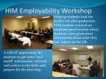 him employability workshop