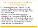 the general adaptation syndrome gas selye 19561