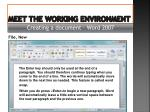 meet the working environment12