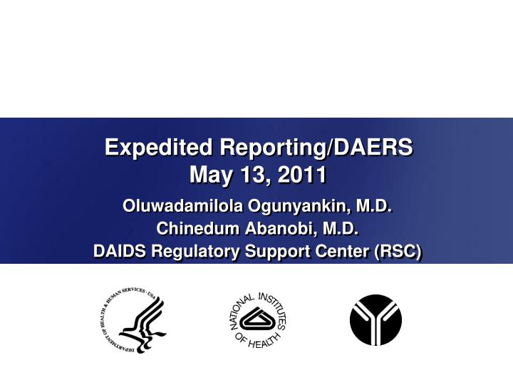 expedited reporting daers may 13 2011 n.