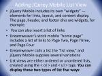 adding jqurey mobile list view