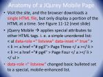 anatomy of a jqurey mobile page
